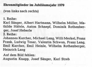 Ehrenmitglieder 1979 Namen