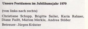 Festdamen 1979 Namen