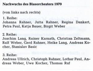 Jugend 1979 Namen