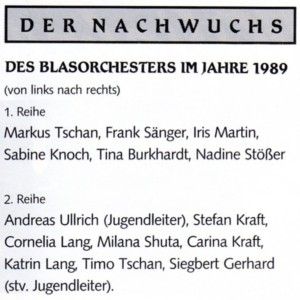 Jugend 1989 Namen