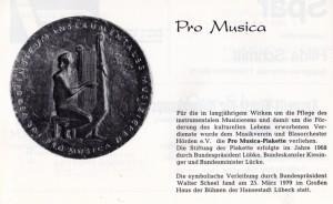 Pro Musica Plakette