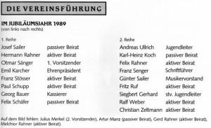 Vereinsführung 1989 Namen