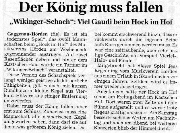 Hock 2014 Schach Bericht